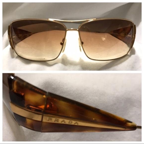dccc42bd88bb3 PRADA Brown Sunglasses SPR 55H 63012 4BW-6S1 120. M 5c3ca0245c44526aa62bbcb4